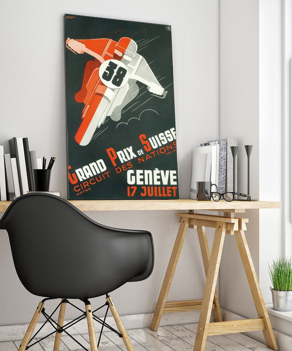 24racing Art Deco Poster