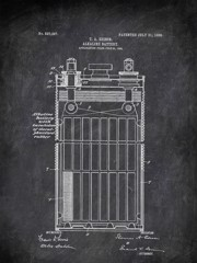 Alkaline Battery T A Edison 1906 Technology by Patent