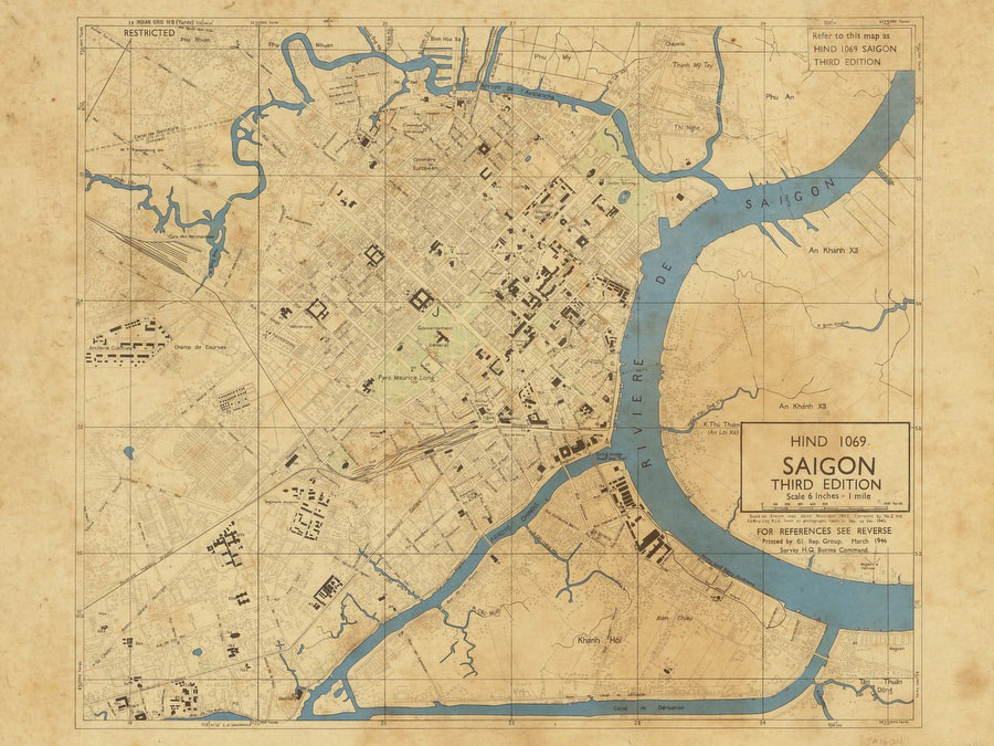 Saigon 1942 Ready - Vintage Asia Maps