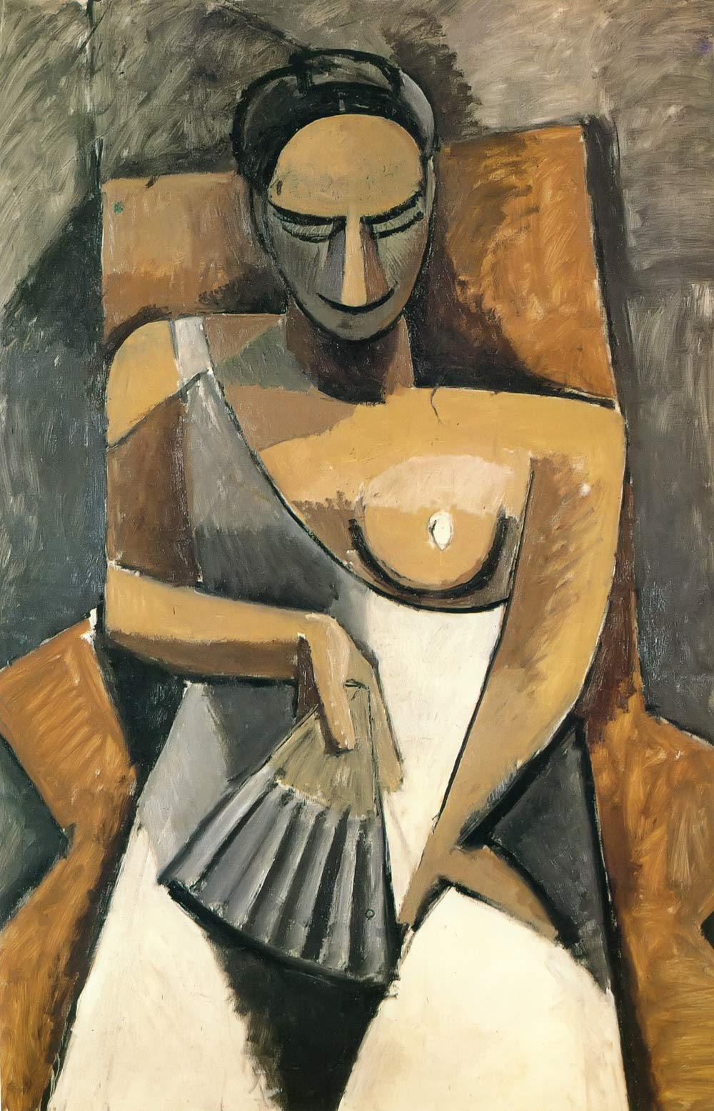 Woman With A Fan Pablo Picasso