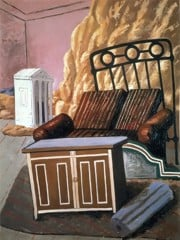 Furniture In The Room by Giorgio De Chirico