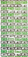 Two Dollar Bills (Front And Rear) by Andy Warhol