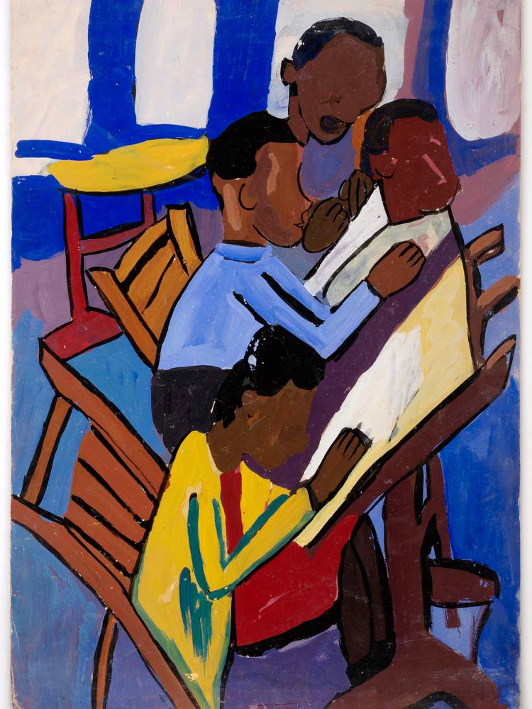 Art Class  Four Students William H Johnson