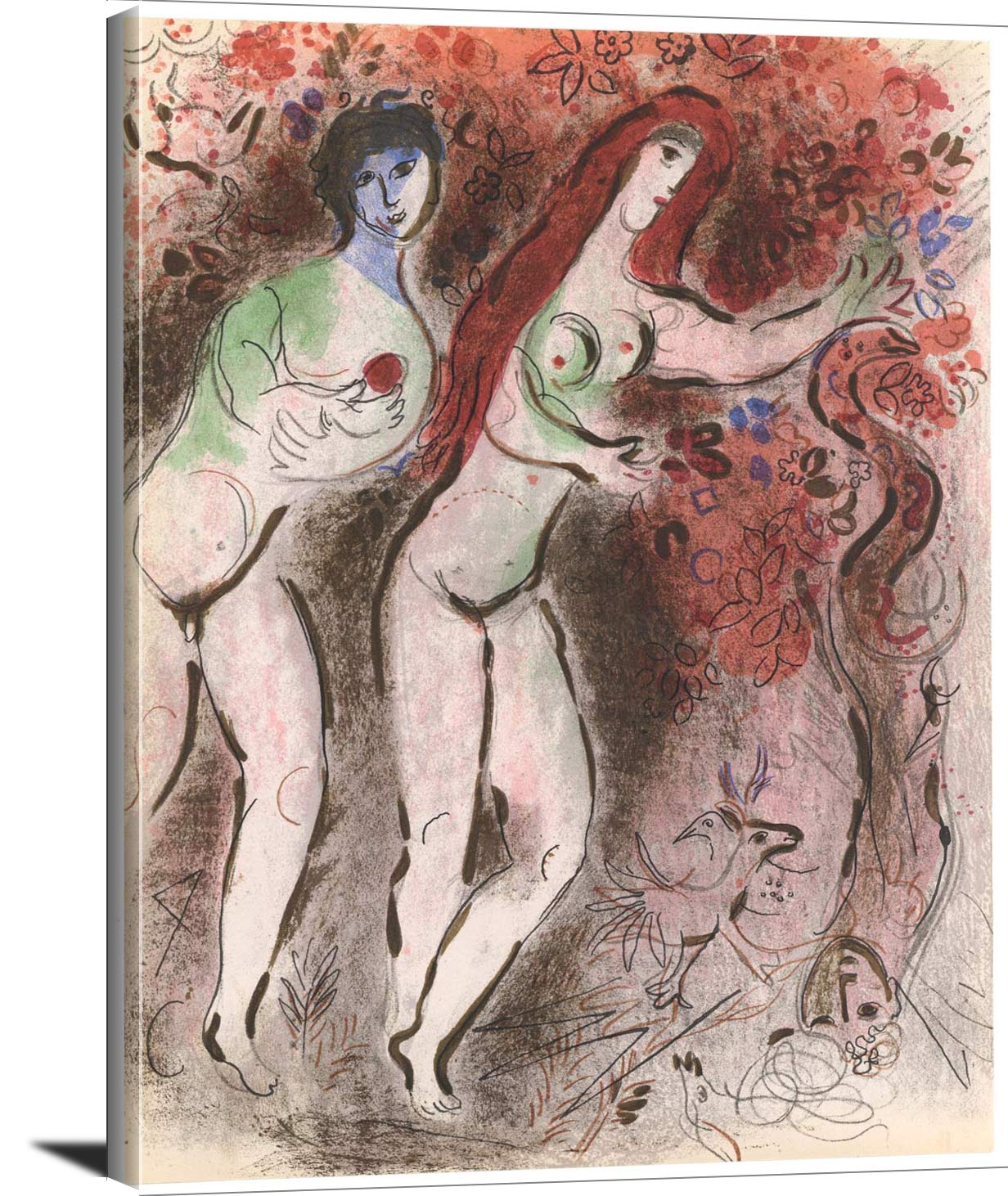 Adam And Eve And The Forbidden Fruit Marc Chagall