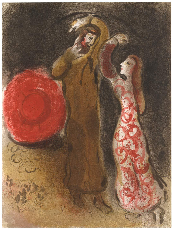 Ruth Meets Boaz Marc Chagall