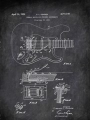 Tremolo Device For Stringed Instruments C L Fender 1956 Music by Patent