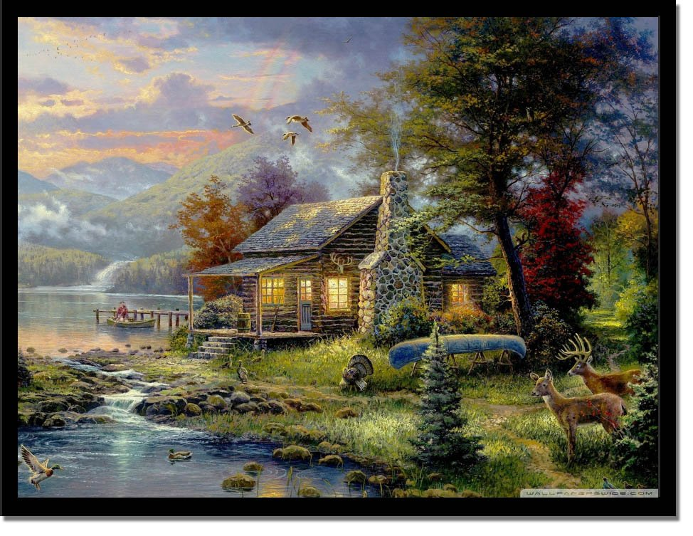 Natures Paradise By Thomas Kinkade Print Masterpieces Curated Fine