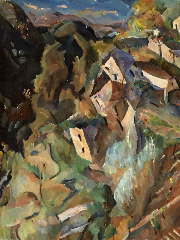 Houses On A Hill William H Johnson