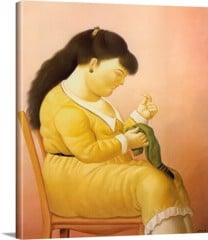 The Seamstress by Botero