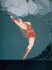 At The Theatre The Dancer by Erte