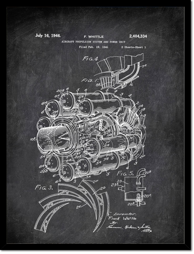 Aircraft Propulsion System And Power Unit F Whittle 1946 Transportation by Patent