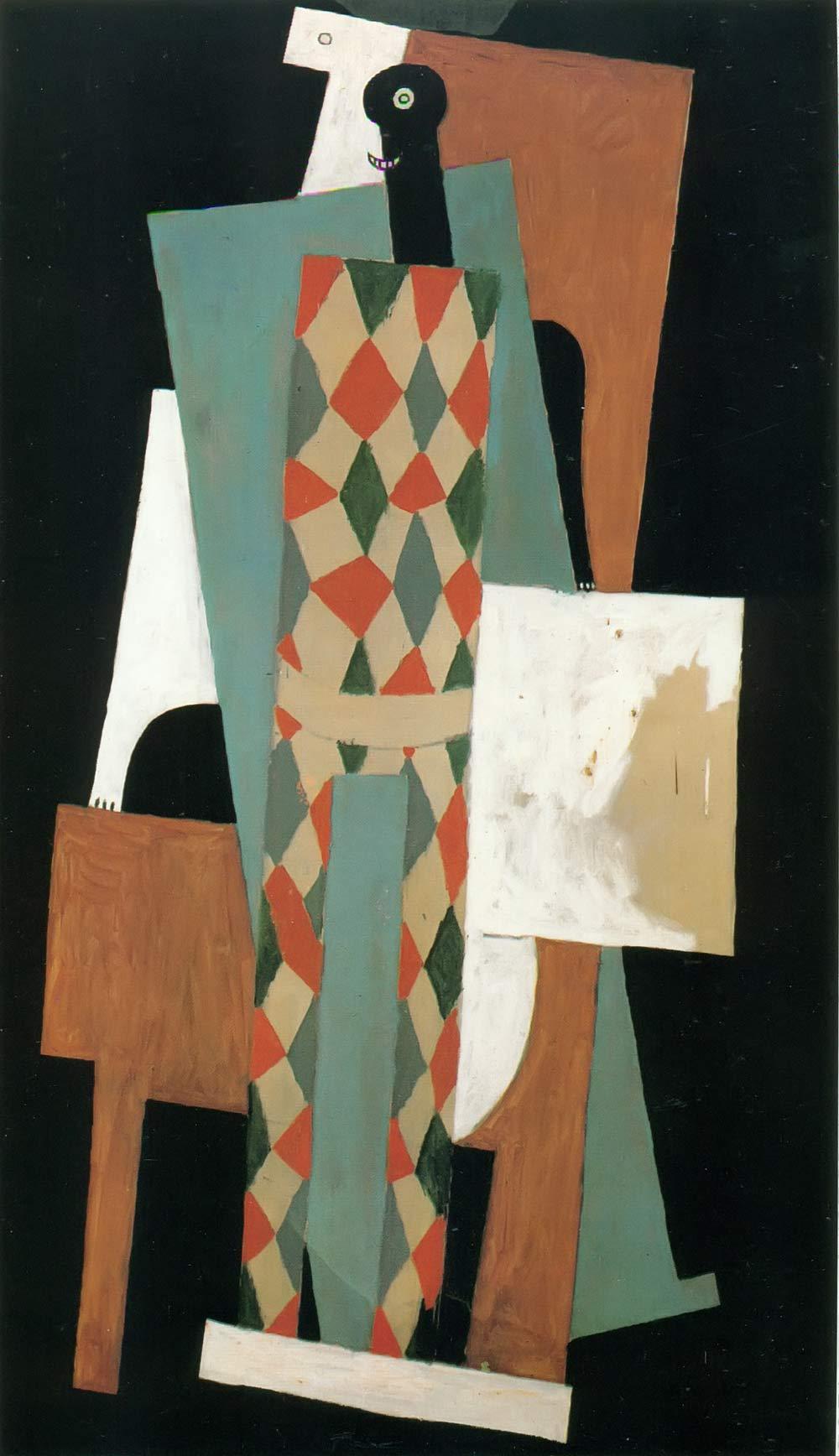 Harlequin 1915 Pablo Picasso