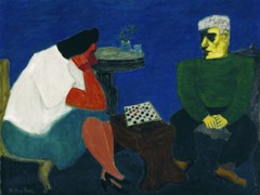 The Checker Players by Milton Avery