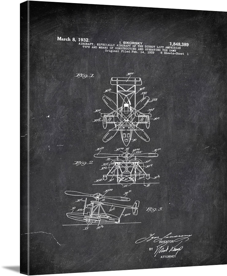 Aircrft Especially Aiccraft Of The Direct Life Amphibian Sikorsky 1932 Transportation by Patent