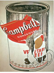 Big Torn Cambell's Soup Can by Andy Warhol