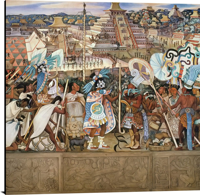 Festivals And Ceremonies Totonac Civilization by Diego Rivera