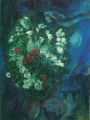 Bouquet With Flying Lovers by Marc Chagall