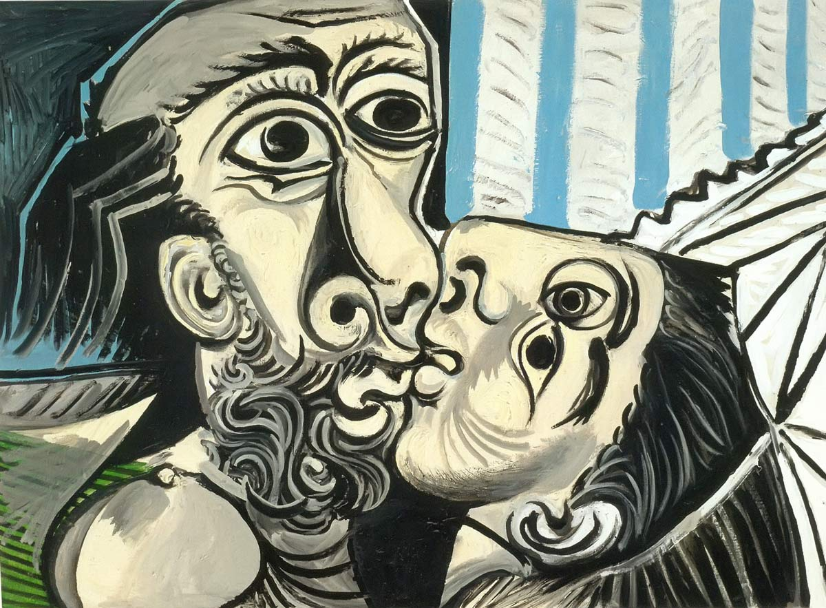 The Kiss 2 1969 Pablo Picasso