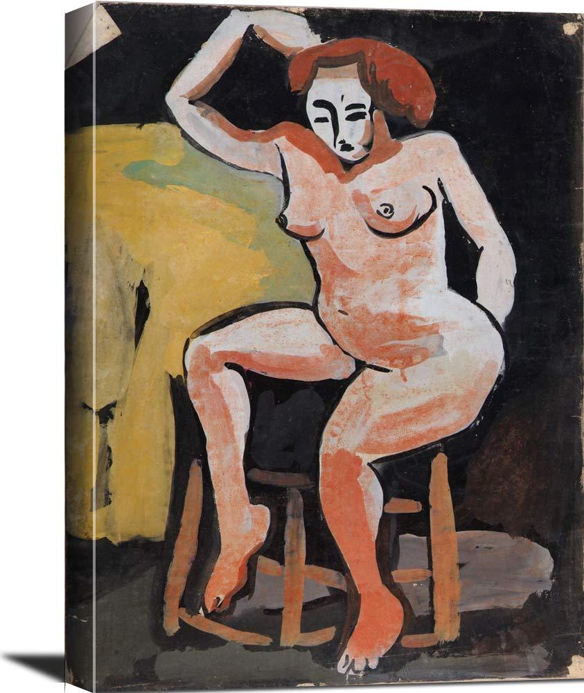 Female Nude On Stool William H Johnson