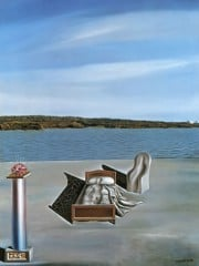 Surrealist Composition With Invisible Figures by Dali