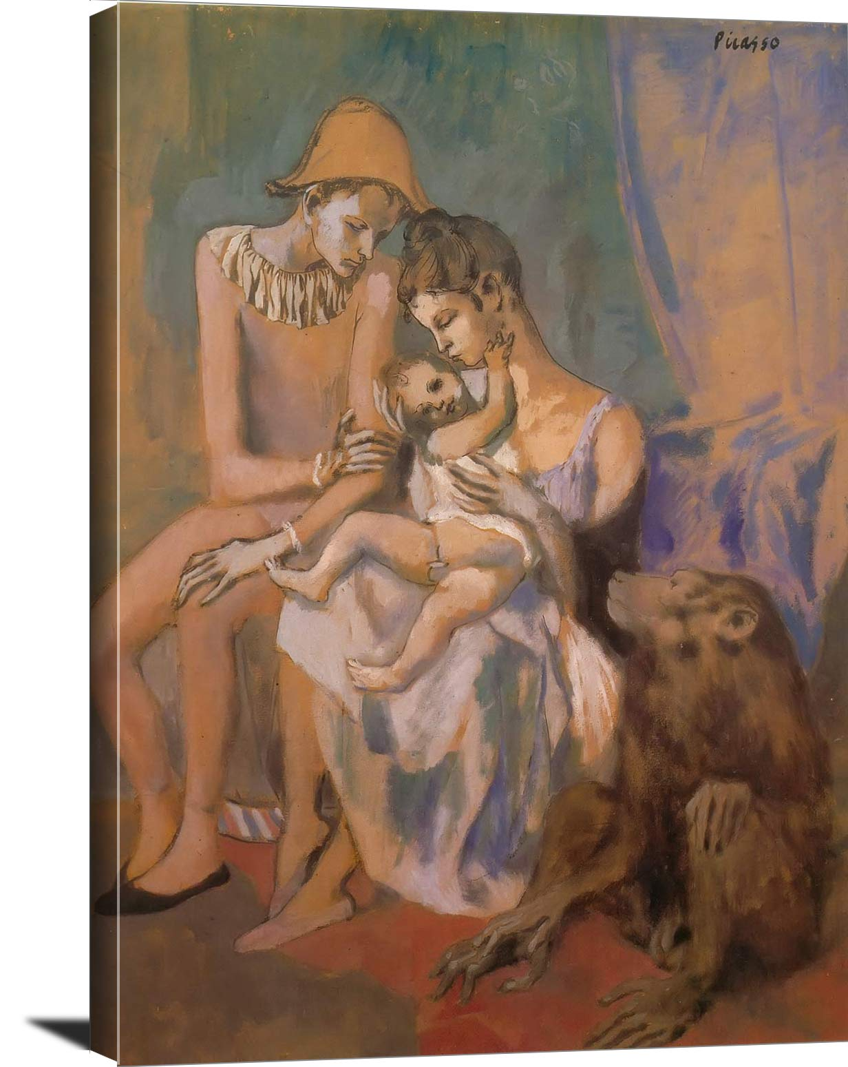 Family Of Acrobats With A Monkey Pablo Picasso