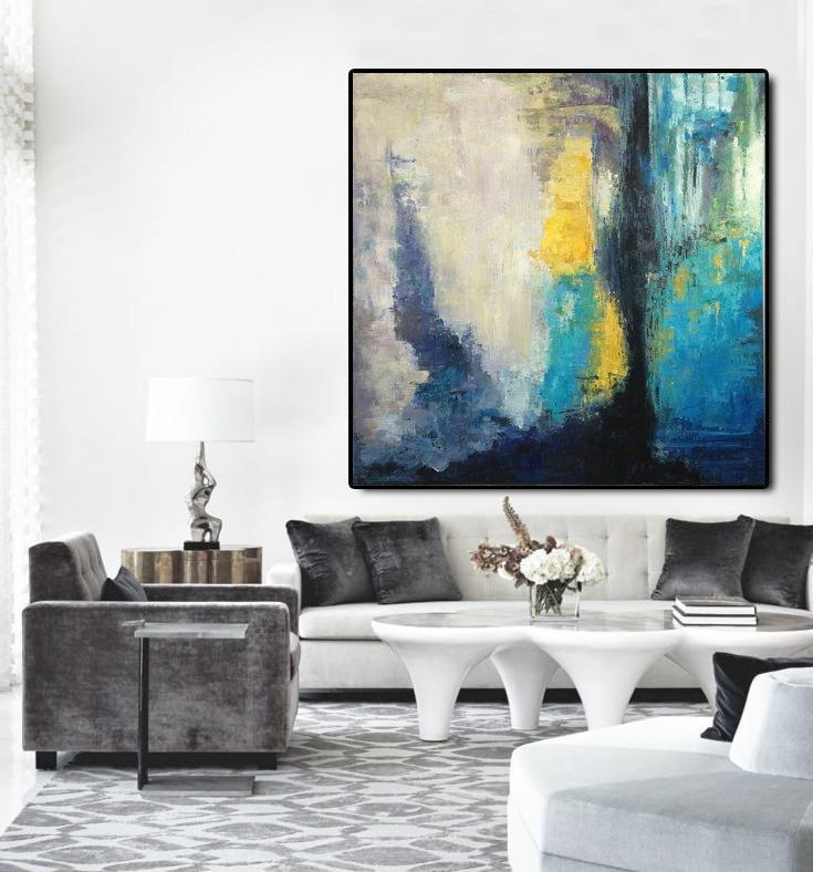 Abstract Oil on Canvas