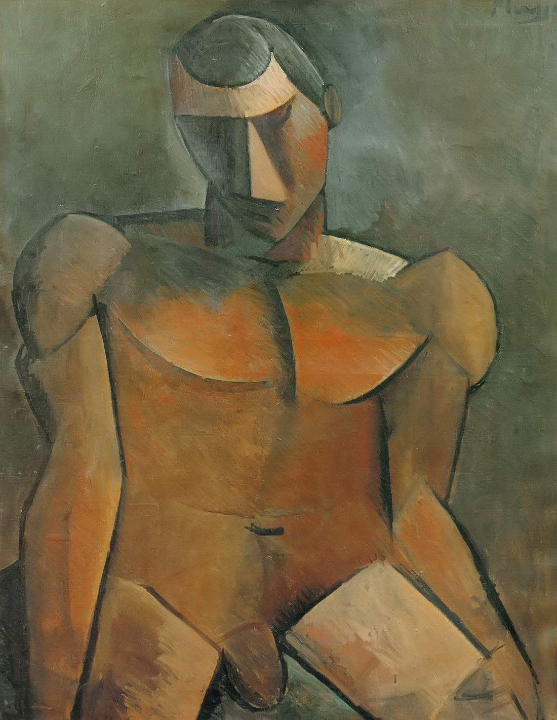 Seated Nude Man Pablo Picasso