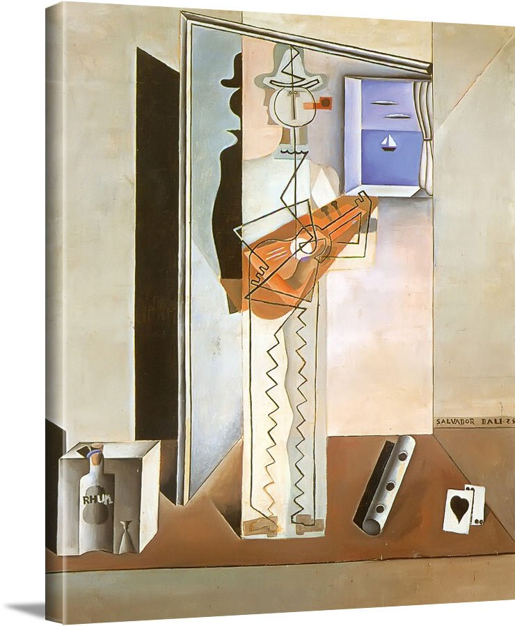 Pierrot Playing The Guitar by Dali