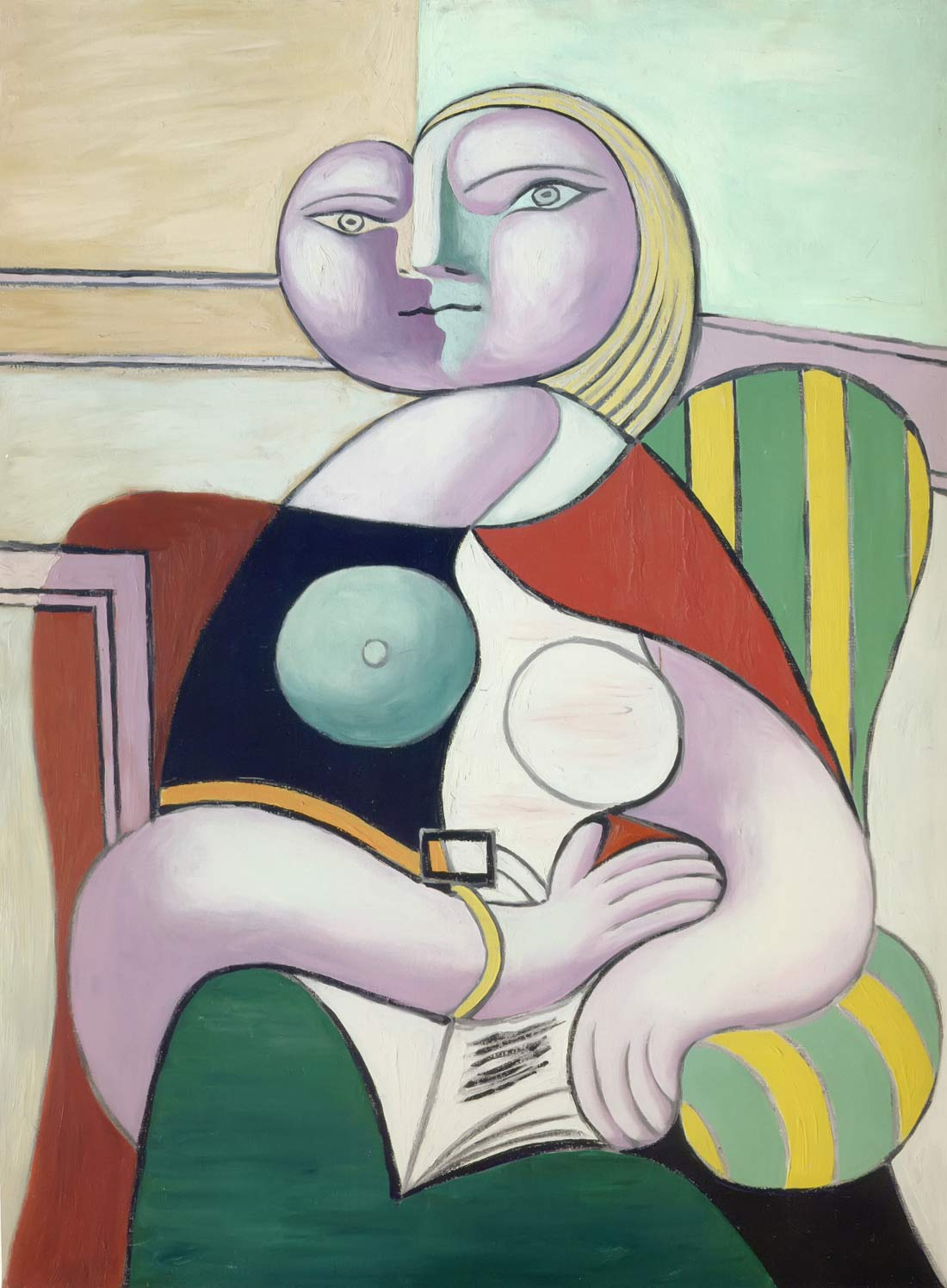 Woman Reading 1932 Pablo Picasso