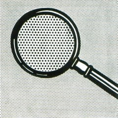Magnifying Glass 1963 by Roy Lichtenstein