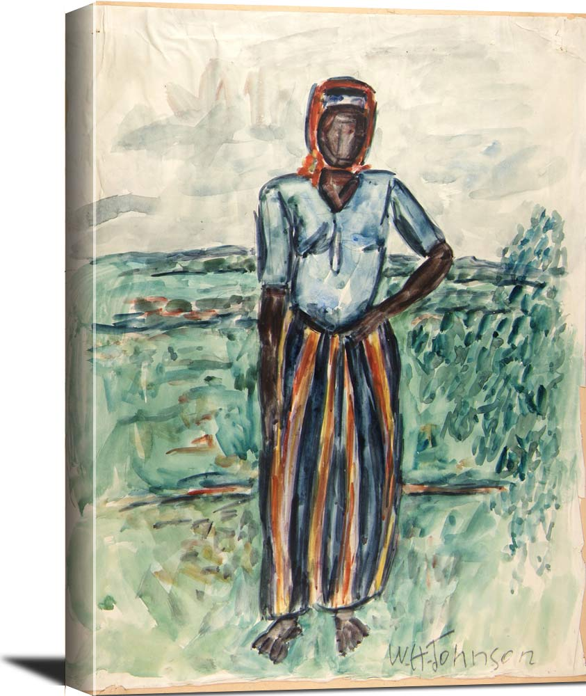 African Woman  Study In Tunis William H Johnson