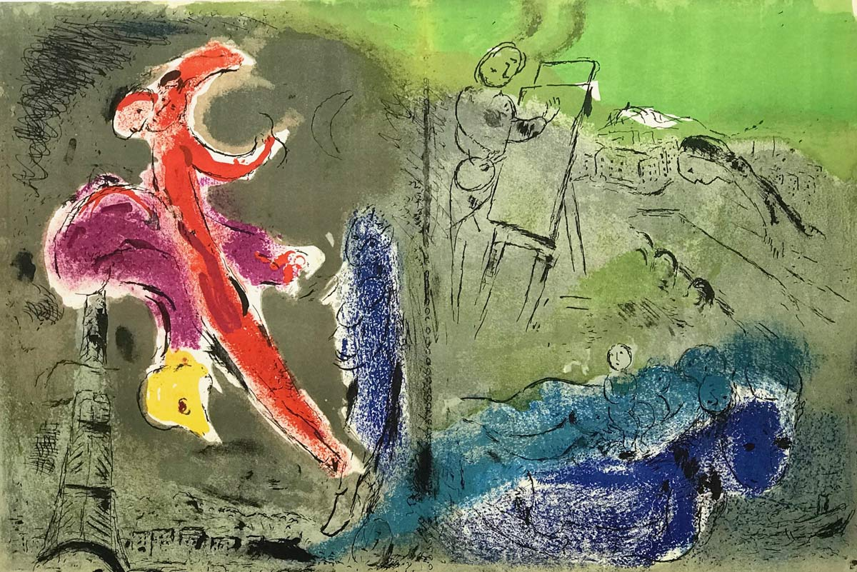 Vision Of Paris Marc Chagall