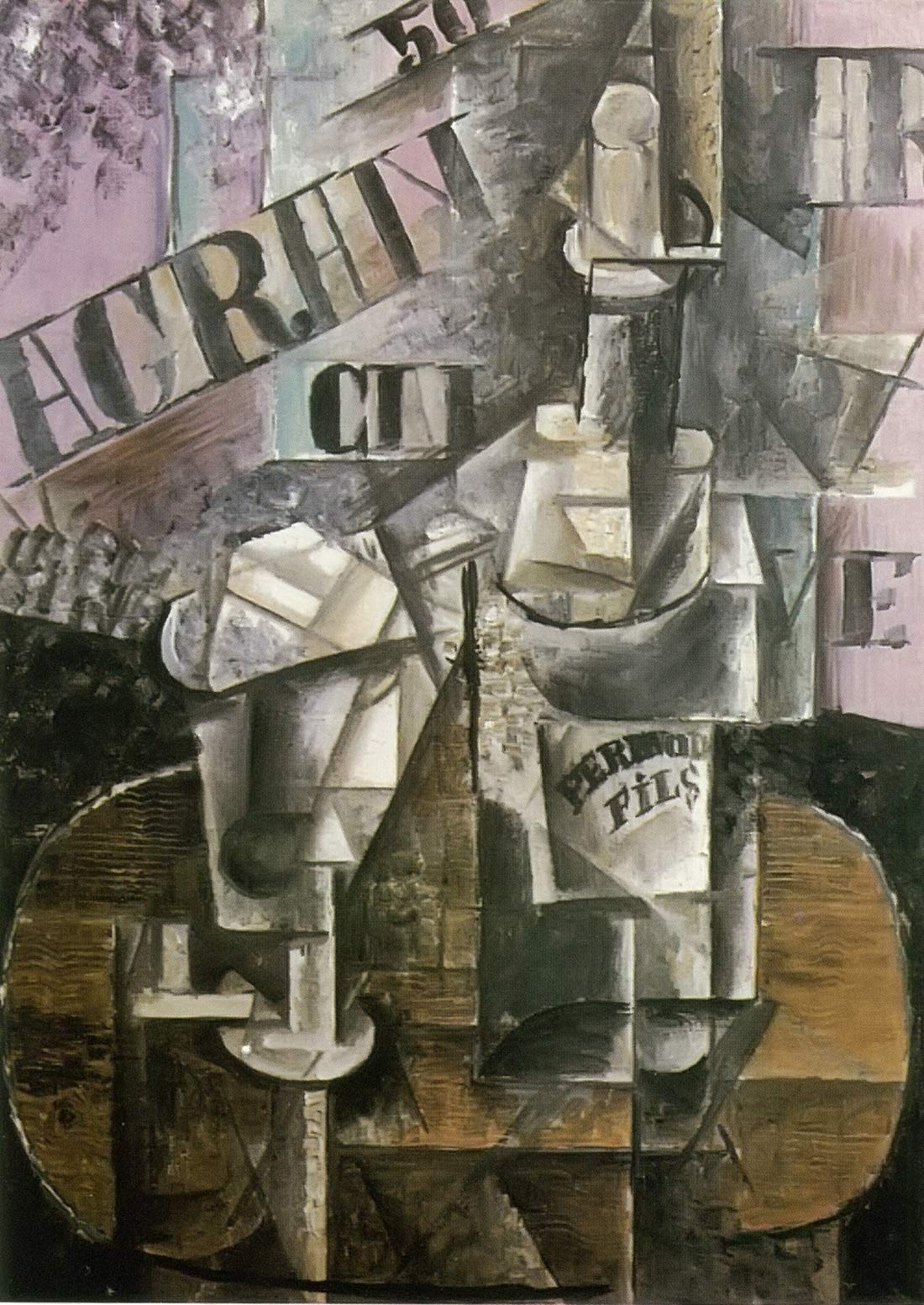 Bottle Of Pernod And Glass Pablo Picasso