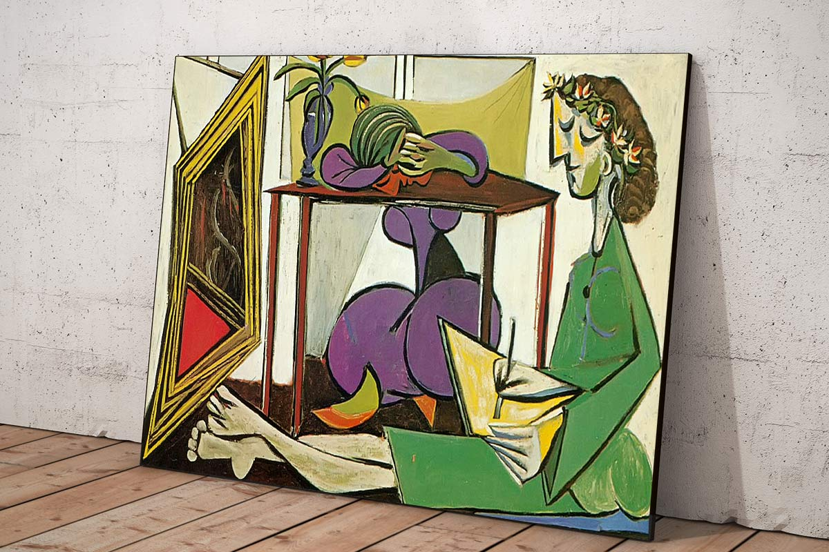 Interior With A Girl Drawing Pablo Picasso