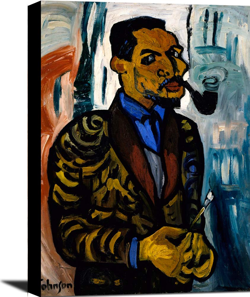 Self Portrait With Pipe William H Johnson