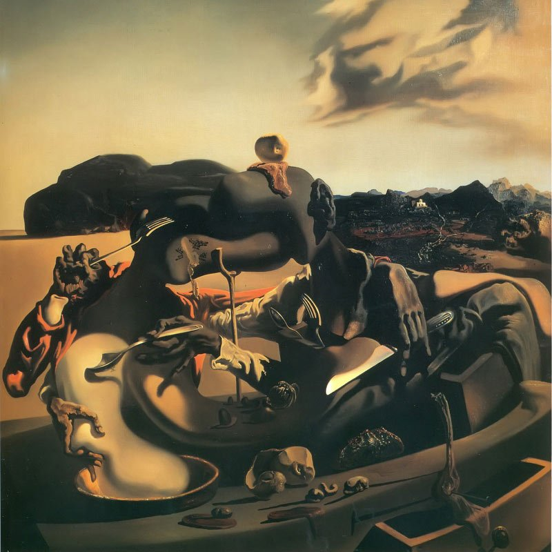 Canabalism In Autumn by Dali