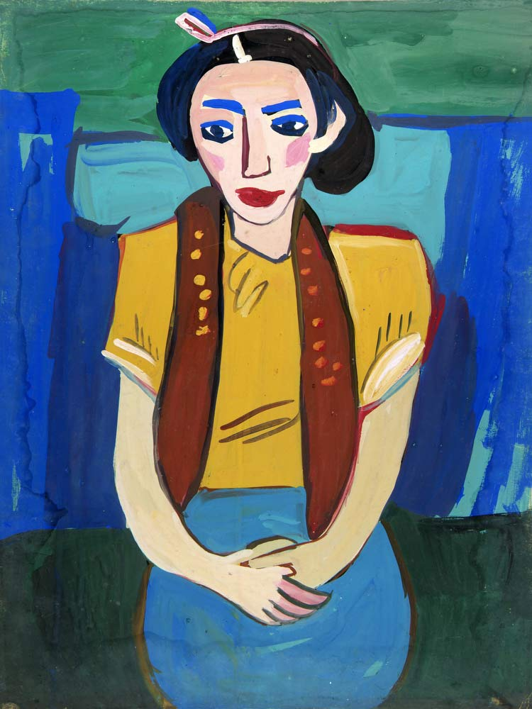 Seated Woman With Yellow Blouse William H Johnson