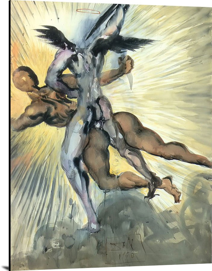 Angel Of Death From Dantes Divine Comedy by Dali