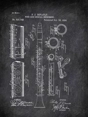 Windeed Musical Instrument P J Devault 1894 Music by Patent