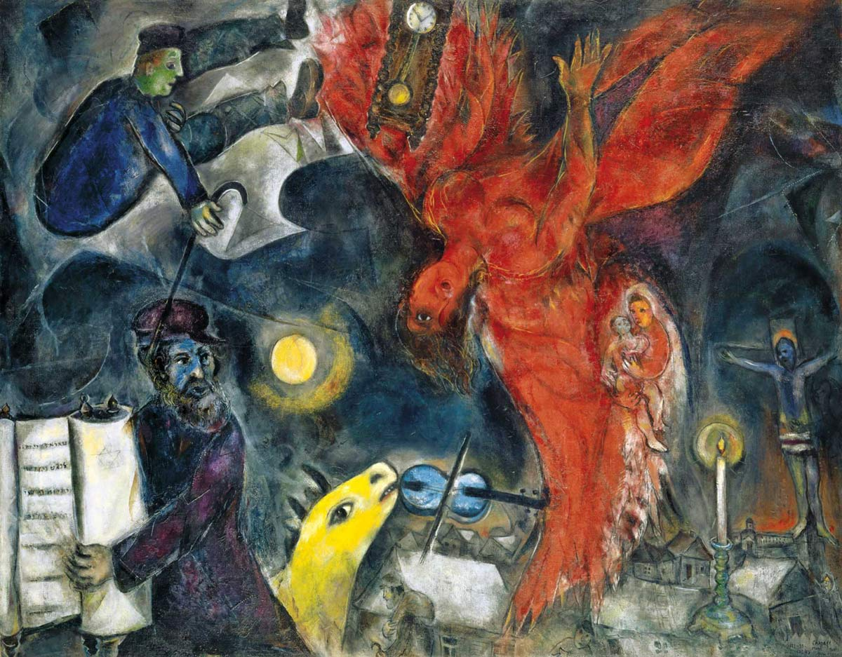 Fall Of The Angel Marc Chagall