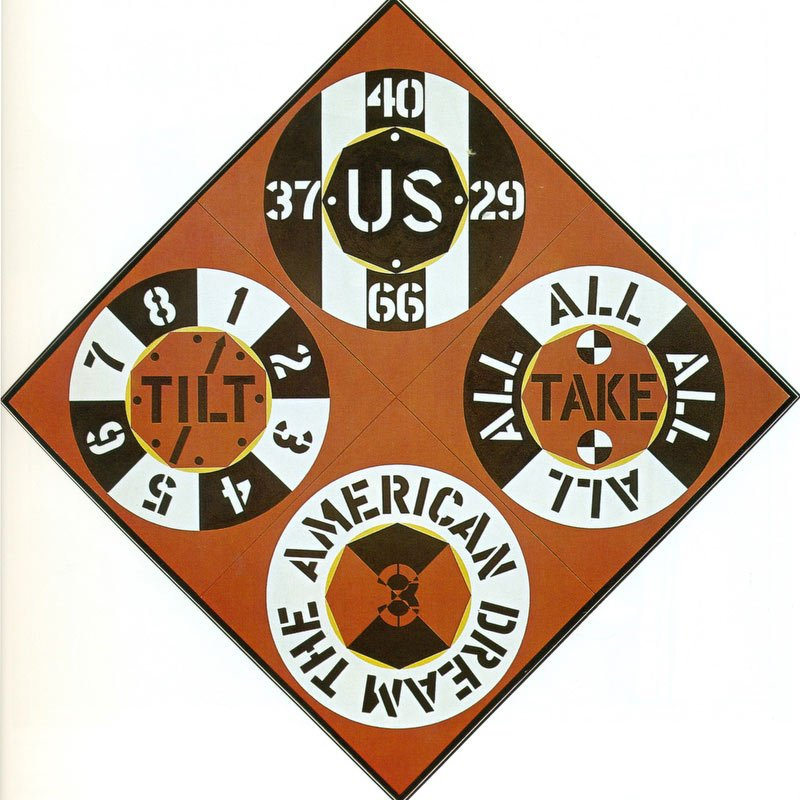 Red Diamond Third American Dream 1962 by Robert Indiana