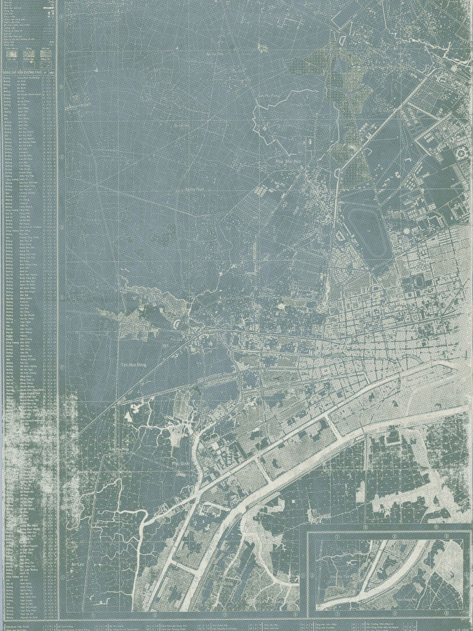 Saigon 1961 War Map - Vintage Asia Maps