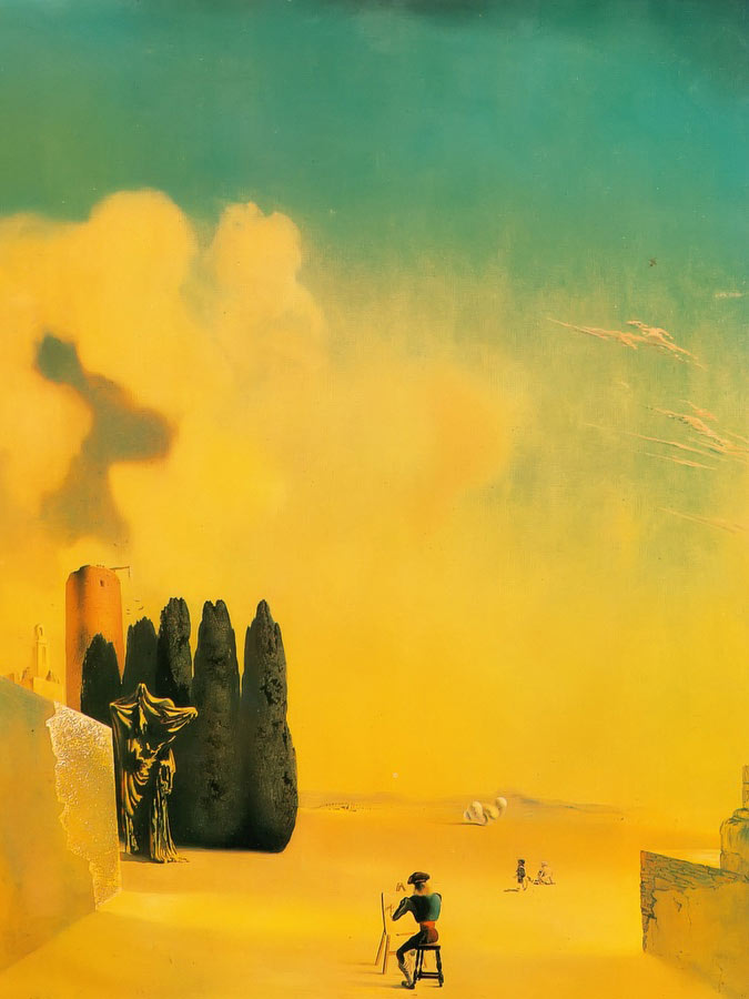 Enigmatic Elements In A Landscape by Dali