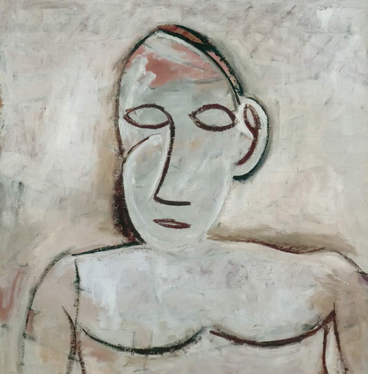 Bust Study For Les Desmoiselles D Avignon Pablo Picasso