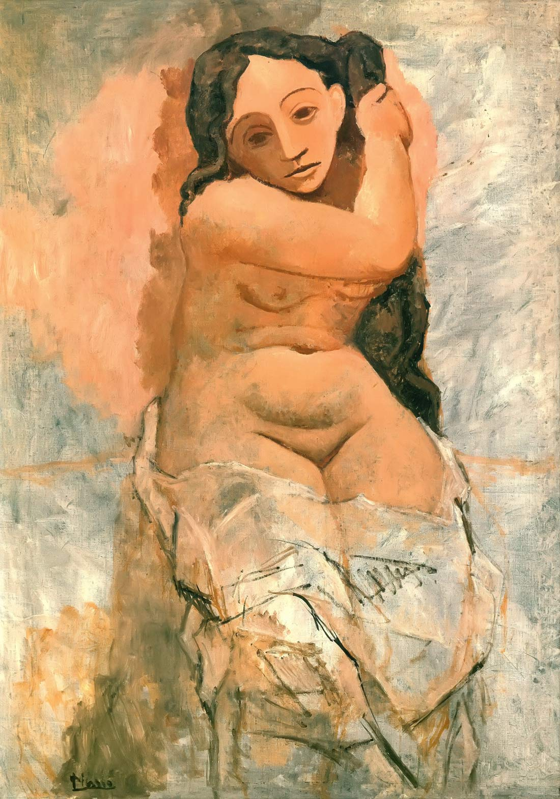 Woman Plaiting Her Hair Pablo Picasso