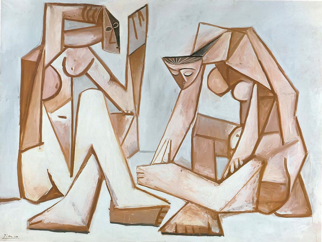 Two Women On A Beach 1956 Pablo Picasso