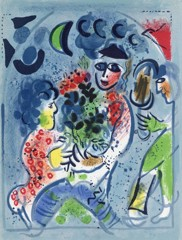 Harlequin With Flowers Marc Chagall