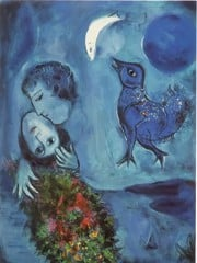 Blue Landscape by Marc Chagall