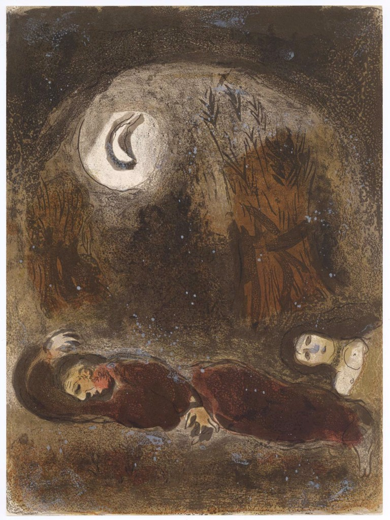 Ruth At The Feet Of Boaz Marc Chagall
