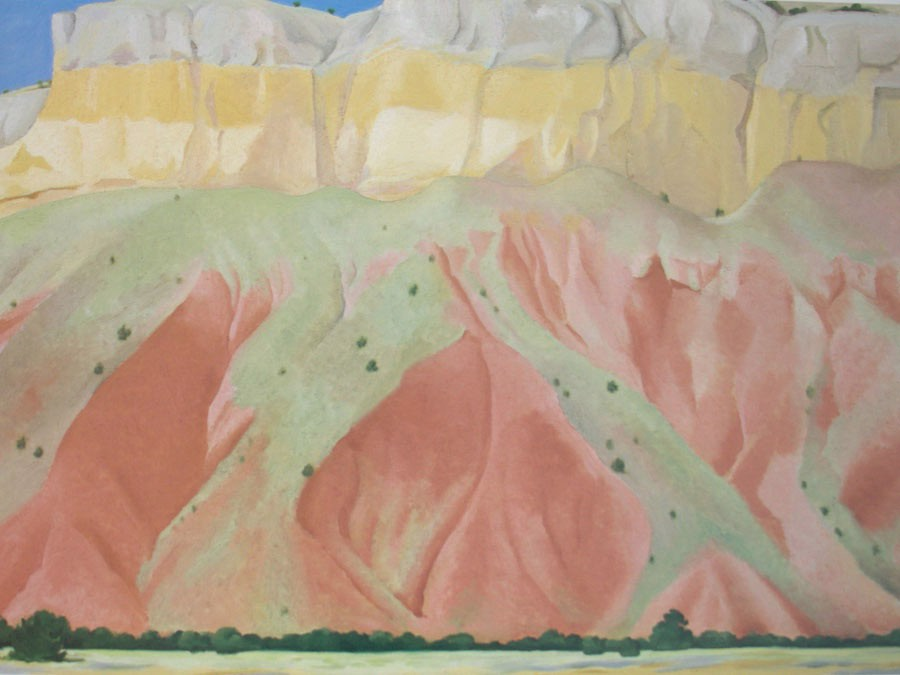 Red And Yellow Cliffs by Georgia O Keeffe